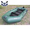 Надувная лодка Ладья ЛТ-290-ЕВТ с транцем и жестким дном слань-книжкой трехместная  сдвиж. сиденье, фото 4
