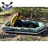 Надувная лодка Ладья ЛТ-250А-СБ с брызгоотбойником и слань-ковриком двухместная, без регистрации, фото 3