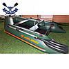 Моторная надувная лодка Kolibri КМ-260 двухместная с жестким дном - слань-книжкой, фото 6