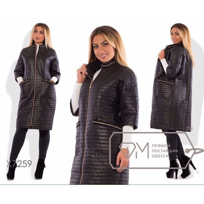 Пальто стеганное ( НОРМА и БАТАЛ) мод.133
