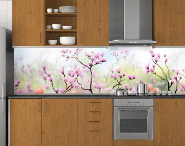 Стеновая панель кухонная 62х205 см (под заказ любой размер)