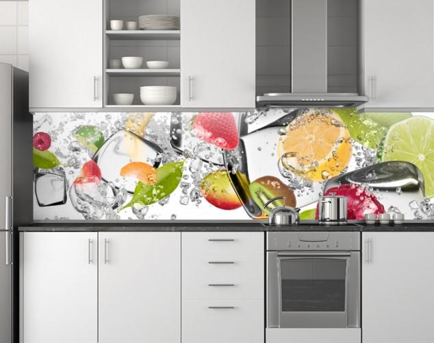 Пластиковый кухонный фартук 62х205 см (под заказ любой размер)