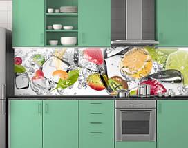 Пластиковый кухонный фартук 62х205 см (под заказ любой размер), фото 3