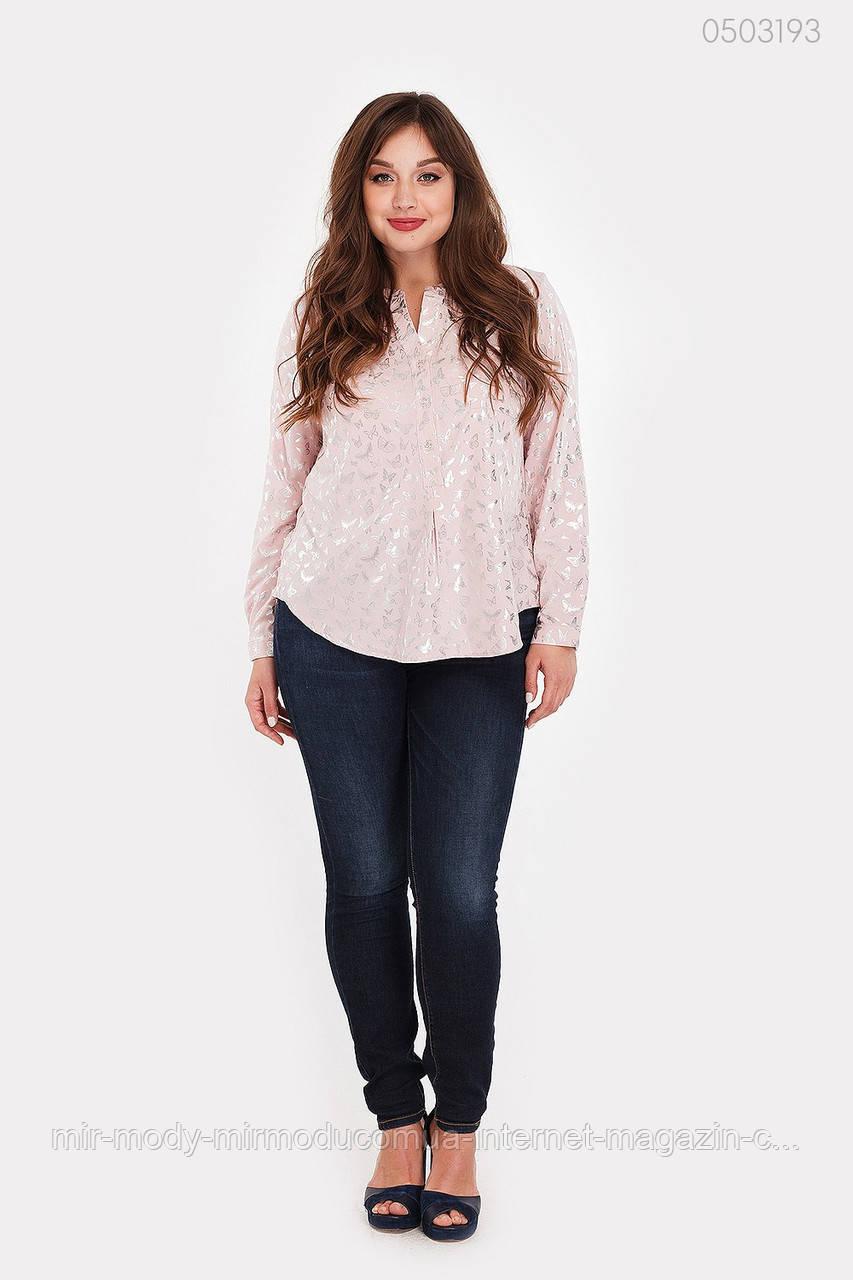 Блузка Блуа (розовый)  (3 расцветок) 52 по 56 размер(рин)