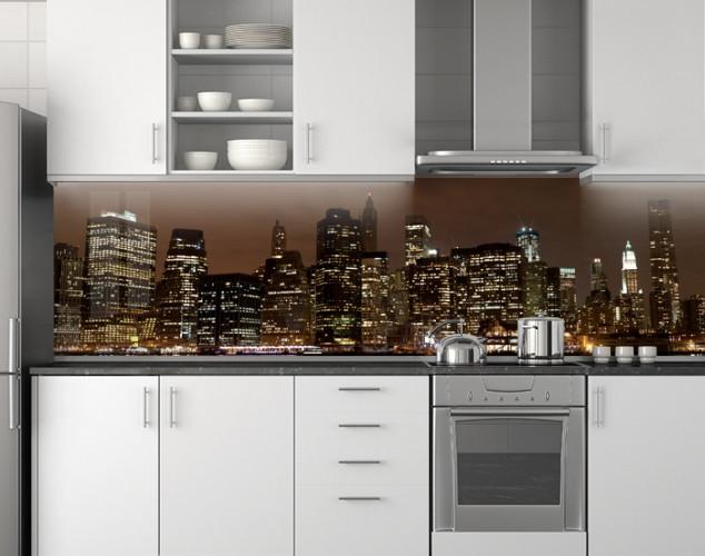 Кухонное скинали из заменителя стекла 62х205 см (под заказ любой размер)