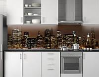 Кухонное скинали из заменителя стекла ПВХ 62х205 см (под заказ любой размер)