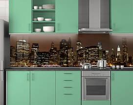 Кухонное скинали из заменителя стекла 62х205 см (под заказ любой размер), фото 3
