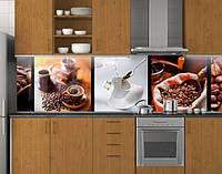 Фартук кухонный из заменителя стекла ПЭТ 62х205 см (под заказ любой размер)