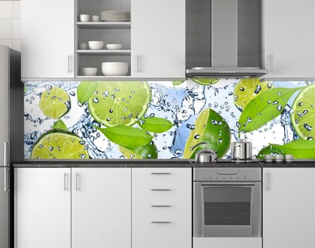 Кухонный фартук, заменитель стекла 62х205 см (под заказ любой размер)