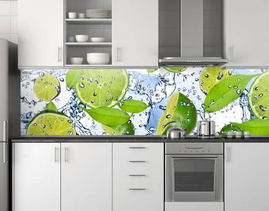 Кухонный фартук, заменитель стекла 62х205 см (под заказ любой размер), фото 2