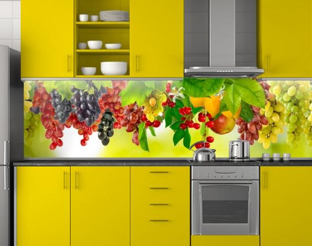 Фартук кухонный из заменителя стекла 62х205 см (под заказ любой размер)