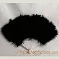 Веер карнавальный перьевой, черный