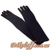 Перчатки длинные женские, черные