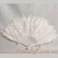 Веер карнавальный перьевой, белый