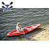 Корпусний каяк Kolibri OnWave-300 одномісний, HDPE-RM, червоно-білий, фото 4