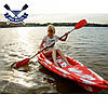 Корпусний каяк Kolibri OnWave-300 одномісний, HDPE-RM, червоно-білий, фото 6