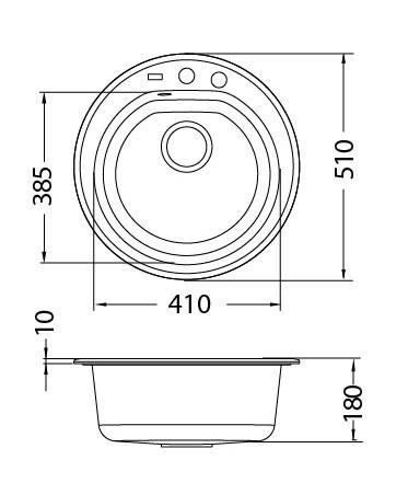 Кухонная мойка Alveus Niagara 10 (Granital) (с доставкой), фото 2