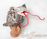 """Шляпа """"Серебристая кобра"""", цилиндр"""