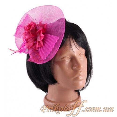 Шляпка женская, малиновая