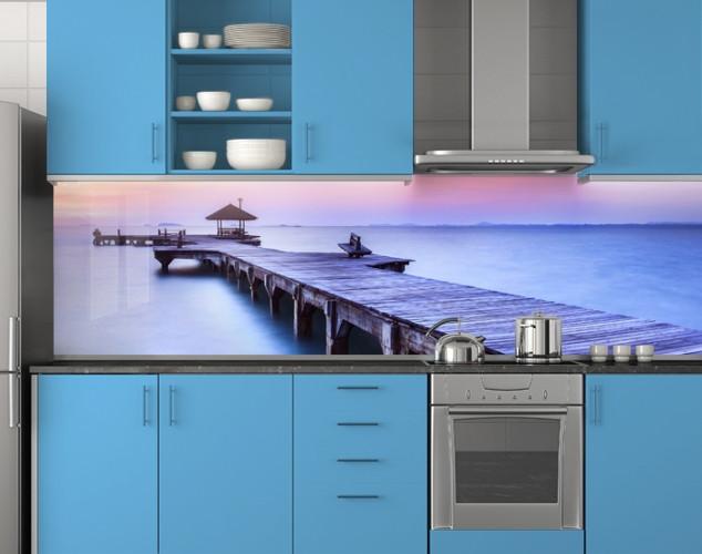 Пластиковый кухонный фартук ПВХ 62х205 см (под заказ любой размер)