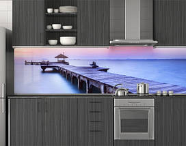 Пластиковый кухонный фартук ПВХ 62х205 см (под заказ любой размер), фото 2