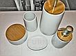 Дозатор для жидкого мыла Wellness доломит / бамбук 8,5х17 см, фото 3
