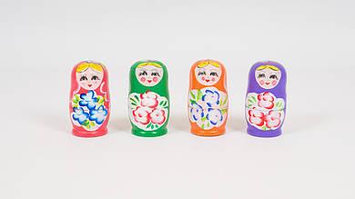Деревянная игрушка - Матрешка. Собирается из 5 куколок. 4 цвета