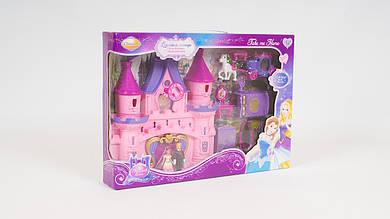 Замок принцессы - музыкальный с подсветкой. В комплекте мебель и фигурка