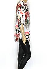 Блузка з яскравим квітковим принтом  Stefano, фото 2