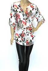 Блузка з яскравим квітковим принтом  Stefano, фото 3