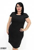 Легкое платье большого размера,черное 50,52,54,56, фото 1