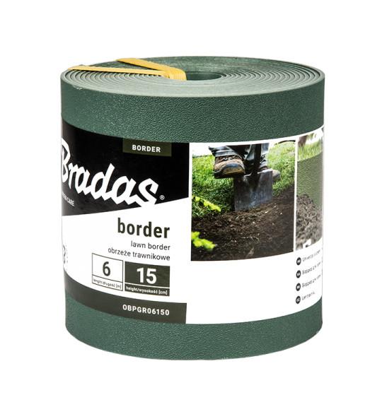 Бордюр для газона  15см*6м, зеленый, OBPGR06150