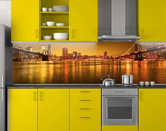 Фартук кухонный из заменителя стекла 62х205 см (под заказ любой размер), фото 2