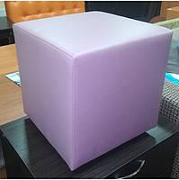 Пуф квадратный Стенли Розовый,пуфик,пуфики,пуф кожзам,пуф экокожа,банкетка,банкетки,пуф куб,пуф фото, фото 2