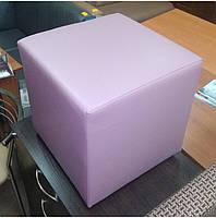 Пуф квадратный Стенли Розовый,пуфик,пуфики,пуф кожзам,пуф экокожа,банкетка,банкетки,пуф куб,пуф фото, фото 3