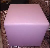 Пуф квадратный Стенли Розовый,пуфик,пуфики,пуф кожзам,пуф экокожа,банкетка,банкетки,пуф куб,пуф фото, фото 4