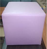 Пуф квадратный Стенли Розовый,пуфик,пуфики,пуф кожзам,пуф экокожа,банкетка,банкетки,пуф куб,пуф фото, фото 5