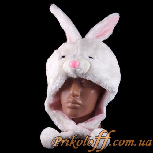 Шапка-маска Беленький зайчик.