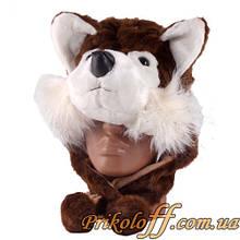 """Шапка-маска """"Коричневый щенок"""""""