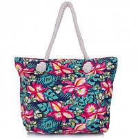 Женская сумка пляжная. Сумка с цветами, фото 1