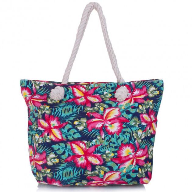Женская сумка пляжная. Сумка с цветами