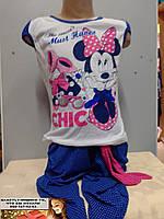 Летний детский костюм  Мики - Маус для девочки 5-6 лет