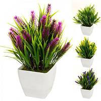 Искусственные цветы в горшке 8*5см