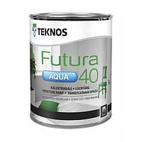Універсальна водорозчинна фарба для дерева та металу Teknos Futura Aqua 40, 0.9л