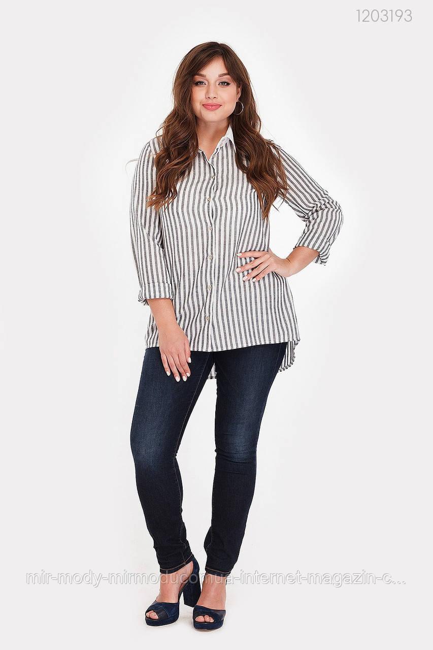 Женская рубашка Дорадо (серый) лен (3 расцветки) с 48 по 54 размер(рин)