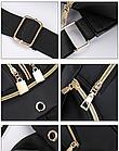 Рюкзак женский чёрный PU с красочным оформлением, фото 7
