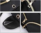 Рюкзак женский чёрный PU с красочным оформлением, фото 8