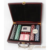 Набор для покера в кейсе на 200 фишек, большой