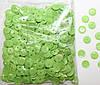 Пайетки круглые. Цвет - салатовый (тиснение), Ø - 6 мм, уп/15 грамм. №77