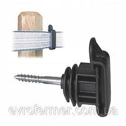 Ізолятор для кріплення стрічки на дерев'яні стовпчики